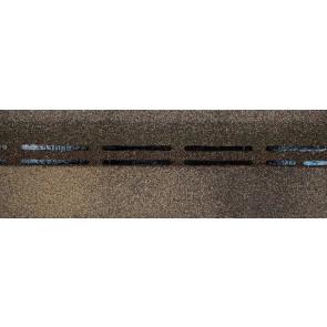 Гибкая черепица коньково-карнизная DOCKE PREMIUM (333*1000), цвет вагаси