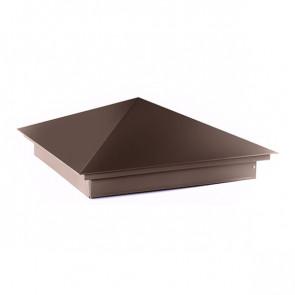 Колпак №-1 полиэстер RAL 8017 (шоколадно-коричневый) стальной бархат