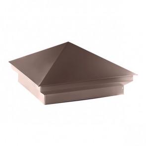 Колпак №-2 полиэстер RAL 8017 (шоколадно-коричневый) стальной бархат