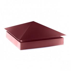 Колпак №-3 полиэстер RAL 3005 (винно-красный) стальной бархат