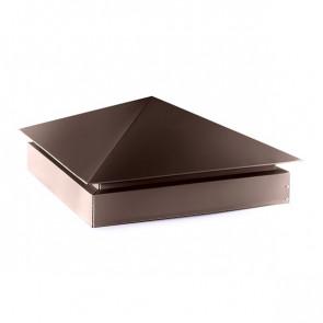 Колпак №-3 полиэстер RAL 8017 (шоколадно-коричневый) стальной бархат