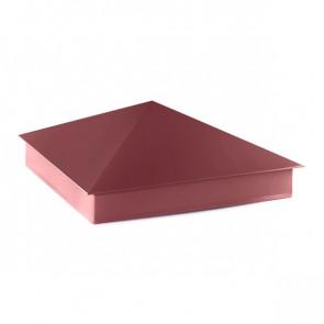 Колпак №-4 полиэстер RAL 3005 (винно-красный) стальной бархат