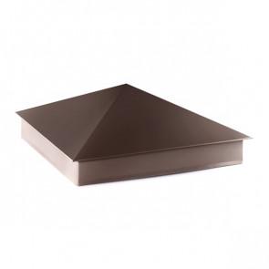 Колпак №-4 полиэстер RAL 8017 (шоколадно-коричневый) стальной бархат