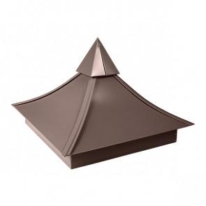 Колпак №-5 полиэстер RAL 8017 (шоколадно-коричневый) стальной бархат