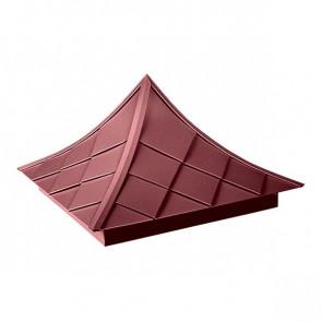 Колпак №-6 полиэстер RAL 3005 (винно-красный) стальной бархат