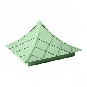 Колпак №-6 полиэстер RAL 6019 (бело-зеленый)