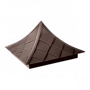 Колпак №-6 полиэстер RAL 8017 (шоколадно-коричневый) стальной бархат