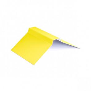 Конек фигурный (150*150), 1,25 м, полиэстер RAL 1018 (цинково-желтый)