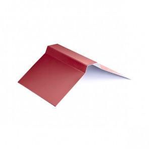 Конек фигурный (150*150), 1,25 м, полиэстер RAL 3003 (рубиново-красный)