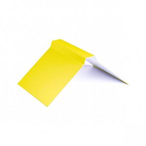 Конек фигурный (200*200), 1,25 м, полиэстер RAL 1018 (цинково-желтый)