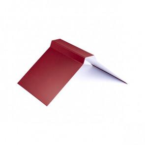Конек фигурный (200*200), 1,25 м, полиэстер RAL 3003 (рубиново-красный)