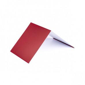 Конек узкий (100*100), 1,25 м, полиэстер RAL 3003 (рубиново-красный)