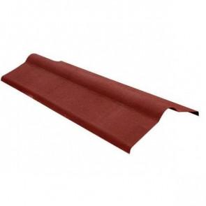 Конек элемент кровли для черепицы Ондулин (250*250*1000) цвет красный