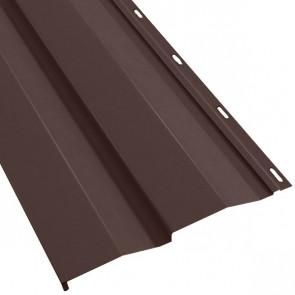 Металлосайдинг Корабельная доска в пленке (270/235) стальной бархат 0,5 RAL 8017 (шоколадно-коричневый)