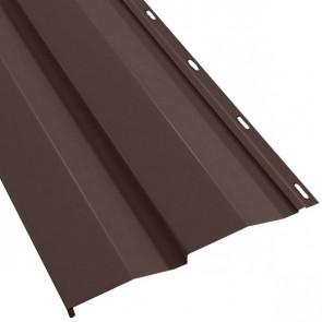 Металлосайдинг Корабельная доска в пленке (270/235) матовый 0,5 RAL 8017 (шоколадно-коричневый)