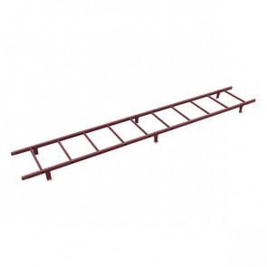 Лестница кровельная BORGE 3000 мм RAL 3005 (винно-красный) в комплекте