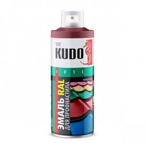 Краска-эмаль для металлочерепицы и профнастила аэрозольный баллончик 520 мл RAL 3005 (винно-красный)