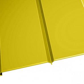 """Металлосайдинг """"Эльбрус"""" в пленке (264/240) 0,45 полиэстер RAL 1018 (цинково-желтый)"""