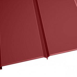 """Металлосайдинг """"Эльбрус"""" в пленке (264/240) 0,5 полиэстер RAL 3003 (рубиново-красный)"""