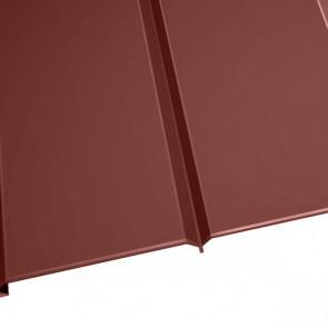 """Металлосайдинг """"Эльбрус"""" в пленке (264/240) 0,45 полиэстер RAL 3009 (красная окись)"""