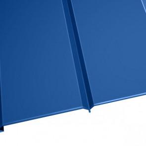 """Металлосайдинг """"Эльбрус"""" в пленке (264/240) 0,45 полиэстер RAL 5005 (сигнальный синий)"""