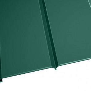 """Металлосайдинг """"Эльбрус"""" в пленке (264/240) 0,5 полиэстер RAL 6005 (зеленый мох)"""
