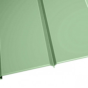 """Металлосайдинг """"Эльбрус"""" в пленке (264/240) 0,5 полиэстер RAL 6019 (бело-зеленый)"""