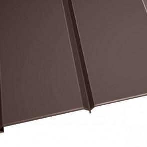"""Металлосайдинг """"Эльбрус"""" в пленке (264/240) 0,5 полиэстер RAL 8017 (шоколадно-коричневый)"""