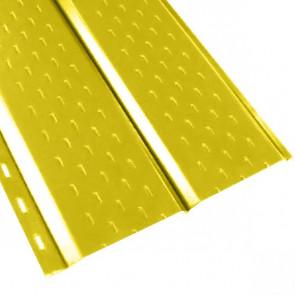 """Софит """"Эльбрус"""" перфорированный в пленке (264/240) 0,5 полиэстер RAL 1018 (цинково-желтый)"""