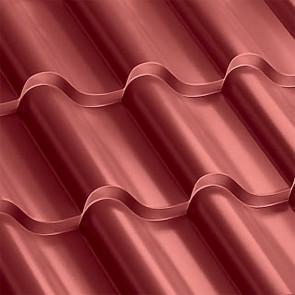 Металлочерепица Монтерроса 30-350 (1170/1110) полиэстер 0,5 RAL 3011 (коричнево-красный)