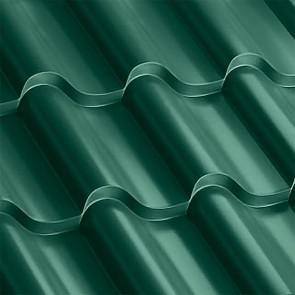 Металлочерепица Монтерроса 30-350 (1170/1110) полиэстер 0,5 RAL 6005 (зеленый мох)