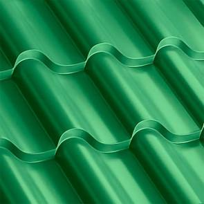Металлочерепица Монтерроса 35-400 (1170/1110) полиэстер 0,5 RAL 6029 (мятно-зеленый)
