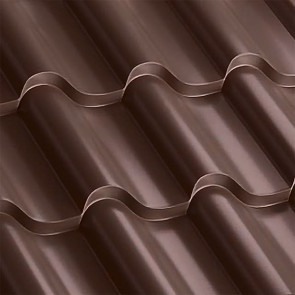 Металлочерепица Монтерроса 30-350 (1170/1110) полиэстер 0,5 RAL 8017 (шоколадно-коричневый)