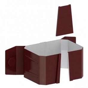 Держатель трубы 76*102 (дерево) «МП Модерн», RAL 8017 (шоколадно-коричневый)