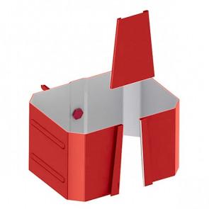 Держатель трубы 76*102 (кирпич) «МП Модерн», RAL 3011 (коричнево-красный)