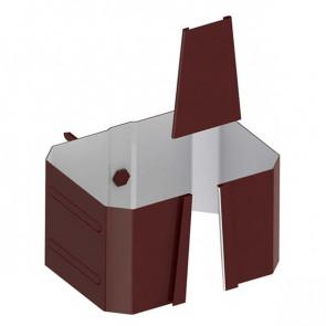 Держатель трубы 76*102 (кирпич) «МП Модерн», RAL 8017 (шоколадно-коричневый)