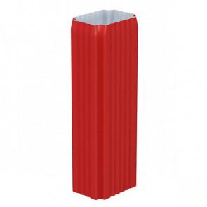 Труба водосточная 76*102*1000 с коленом «МП Модерн», RAL 3011 (коричнево-красный)