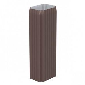 Труба водосточная 76*102*1000 с коленом «МП Модерн», RAL 8017 (шоколадно-коричневый)