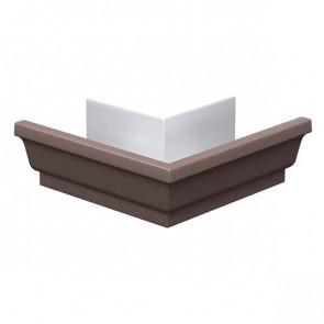 Угол желоба 120*86 наружный «МП Модерн», RAL 8017 (шоколадно-коричневый)