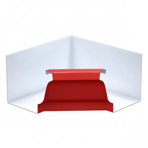Угол желоба 120*86 внутренний «МП Модерн», RAL 3011 (коричнево-красный)