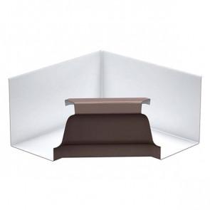 Угол желоба 120*86 внутренний «МП Модерн», RAL 8017 (шоколадно-коричневый)