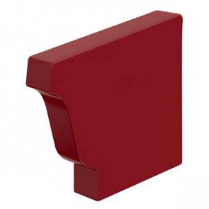 Заглушка желоба 120*86 правая «МП Модерн», RAL 3011 (коричнево-красный)