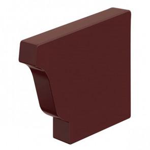 Заглушка желоба 120*86 правая «МП Модерн», RAL 8017 (шоколадно-коричневый)