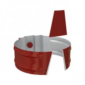 Держатель трубы D 150 (саморез) «МП Проект», RAL 3011 (коричнево-красный)