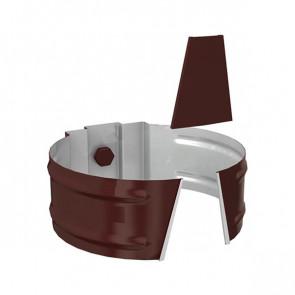 Держатель трубы D 150 (саморез) «МП Проект», RAL 8017 (шоколадно-коричневый)