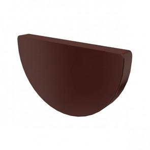 Заглушка желоба D 185 «МП Проект», RAL 8017 (шоколадно-коричневый)