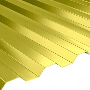 Профнастил НС-21 (1080/1000) 0,45 полиэстер RAL 1018 (цинково-желтый)