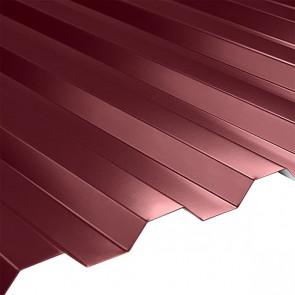 Профнастил НС-21 (1080/1000) 0,5 стальной бархат RAL 3005 (винно-красный)