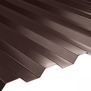 Профнастил НС-21 (1080/1000) 0,5 стальной бархат RAL 8017 (шоколадно-коричневый)