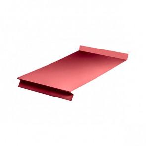 Отлив оконный (20x350x20x20)*1250 полиэстер RAL 3003 (рубиново-красный)